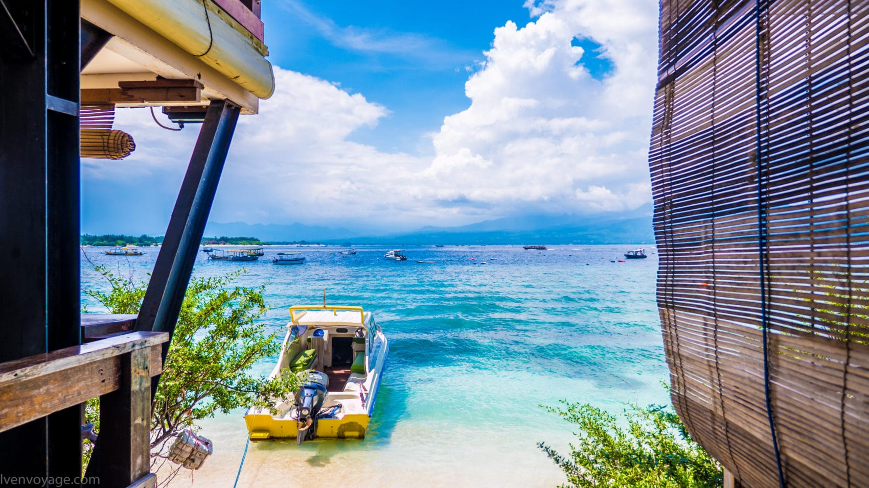Vue sur mer GILI TRAWANGAN INDONESIE