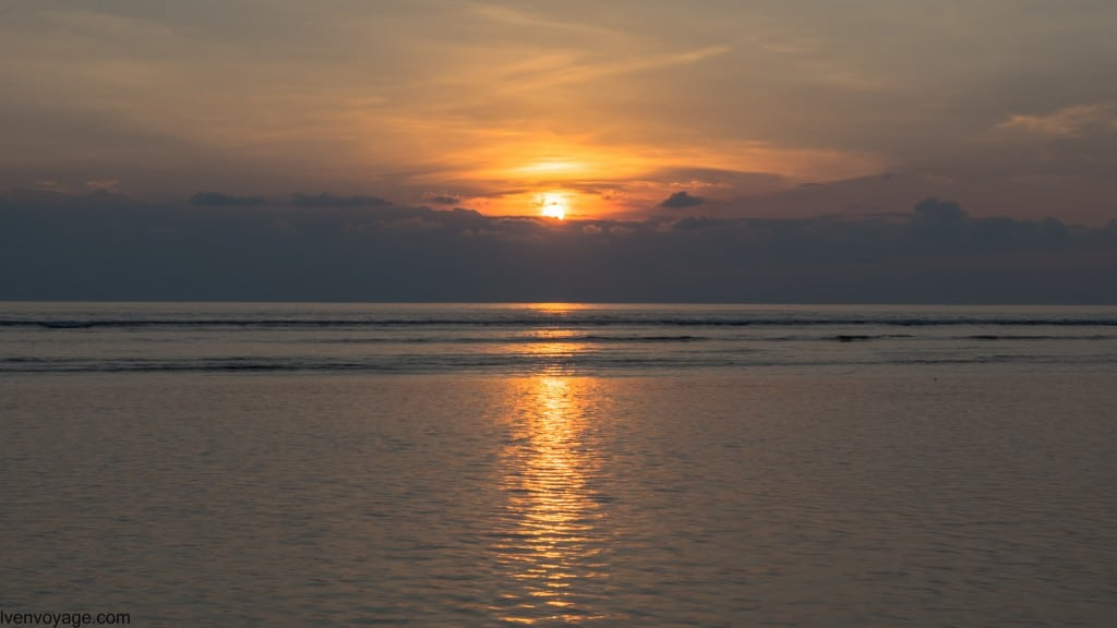 Coucher de soleil GILI TRAWANGAN INDONESIE