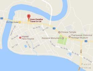 Carte agence Green Paradise Paské LAOS