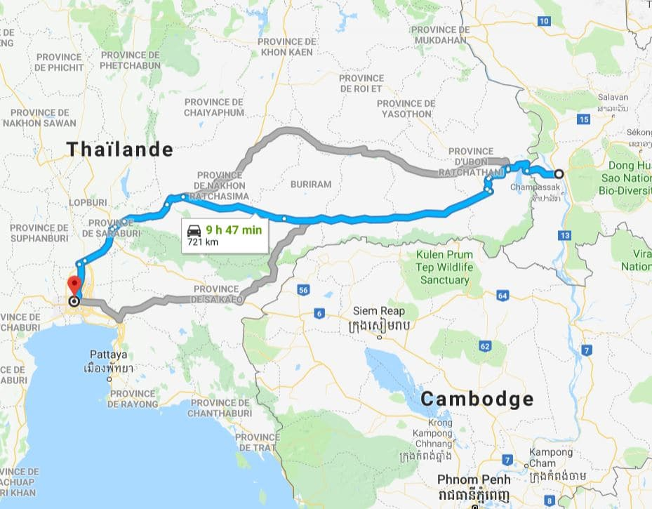 PAKSE BANGKOK MAP CARTE