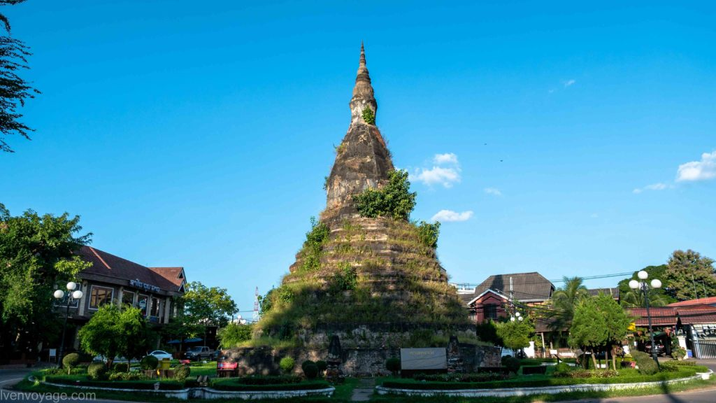 BLACK STUPA THAT DAM VIENTIANE LAOS