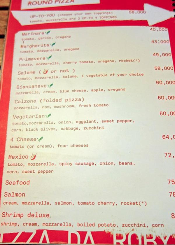 PIZZA DA ROBY VIENTIANE LAOS