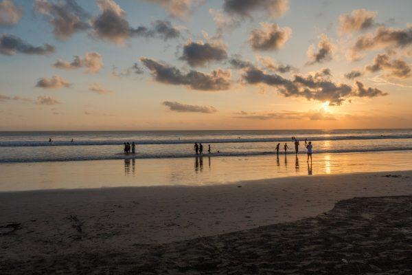 coucher de soleil kuta