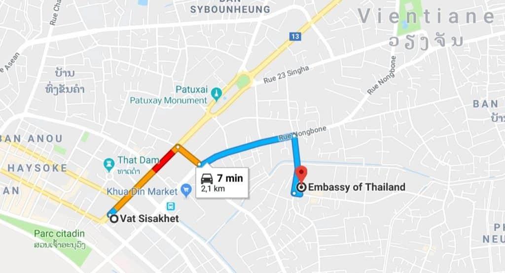 visa thailande laos
